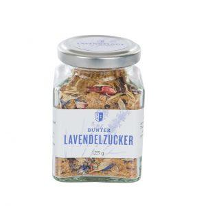Bunter Lavendel Zucker, 125g